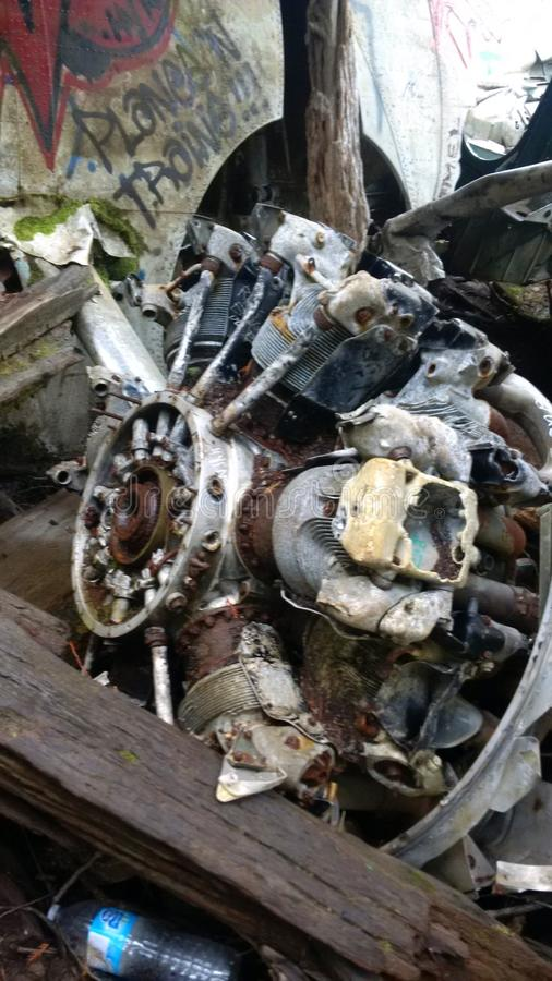 Motor del bombardero estrellado foto de archivo libre de regalías