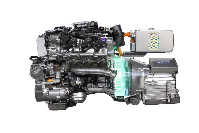 Motor del híbrido del coche V6 imagen de archivo libre de regalías