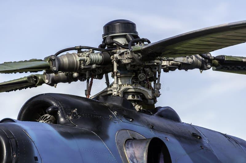 Motor del helicóptero. imagen de archivo libre de regalías