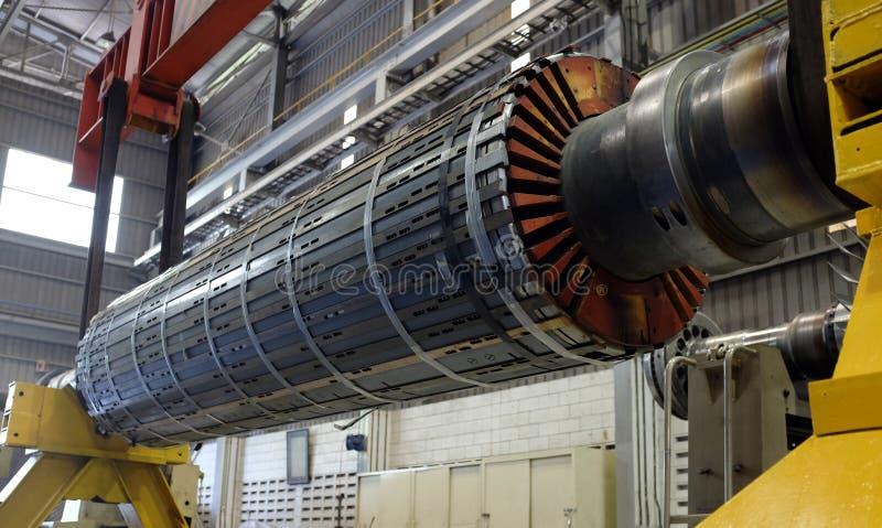 Motor del rotor en un taller fotografía de archivo