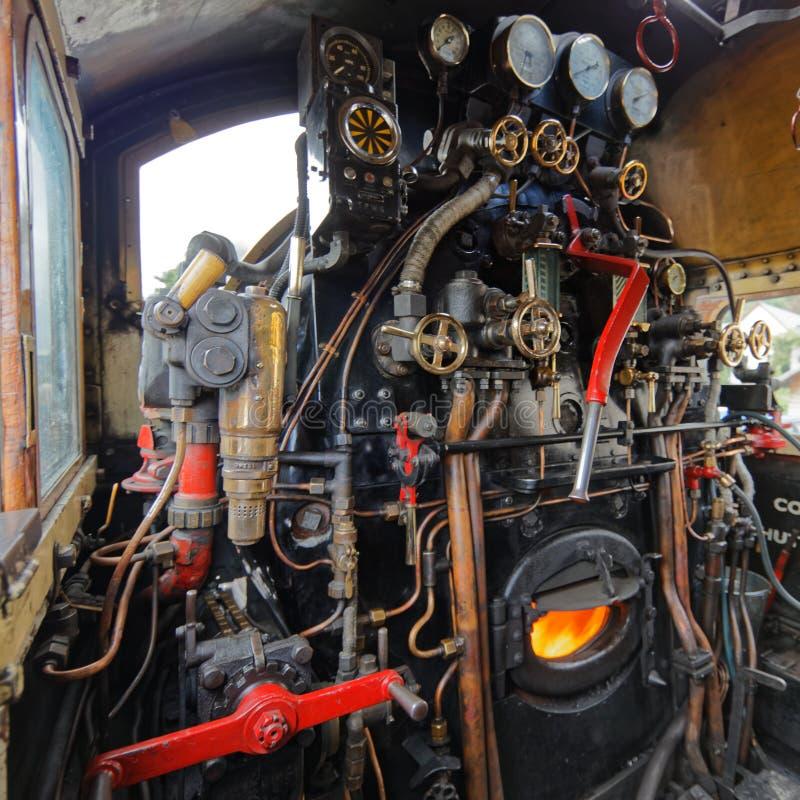 Motor del tren de Jacobite en el fuerte William Station - Escocia fotografía de archivo