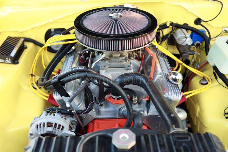 Motor des Muskelautos stockfotografie