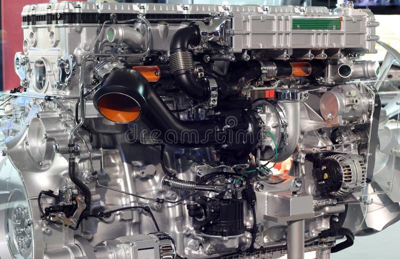Motor des schweren LKW stockbild
