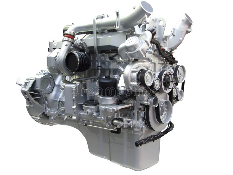 Motor des schweren LKW lizenzfreie stockfotografie