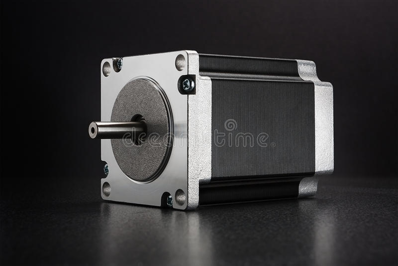 Motor deslizante da movimentação linear da linha central do CNC foto de stock