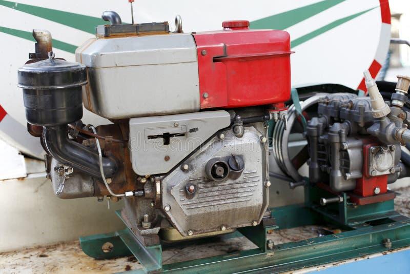 Motor diesel agrícola imagen de archivo
