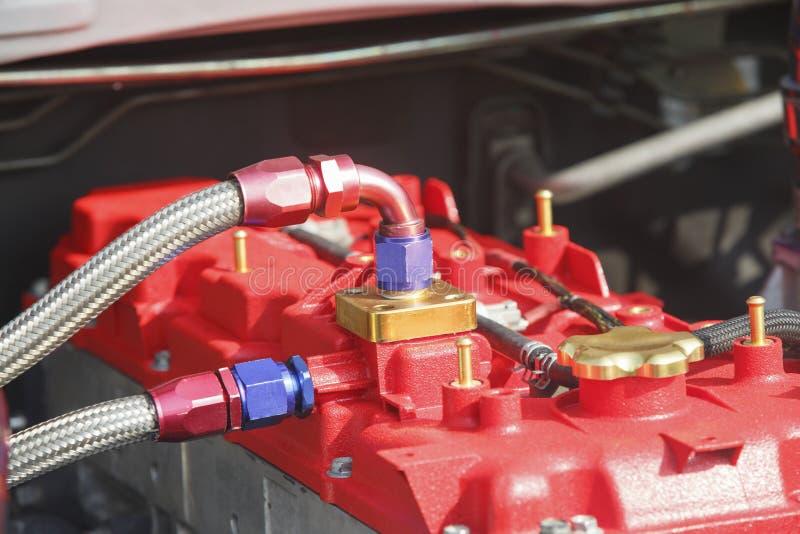 Motor diesel del coche de competición imágenes de archivo libres de regalías
