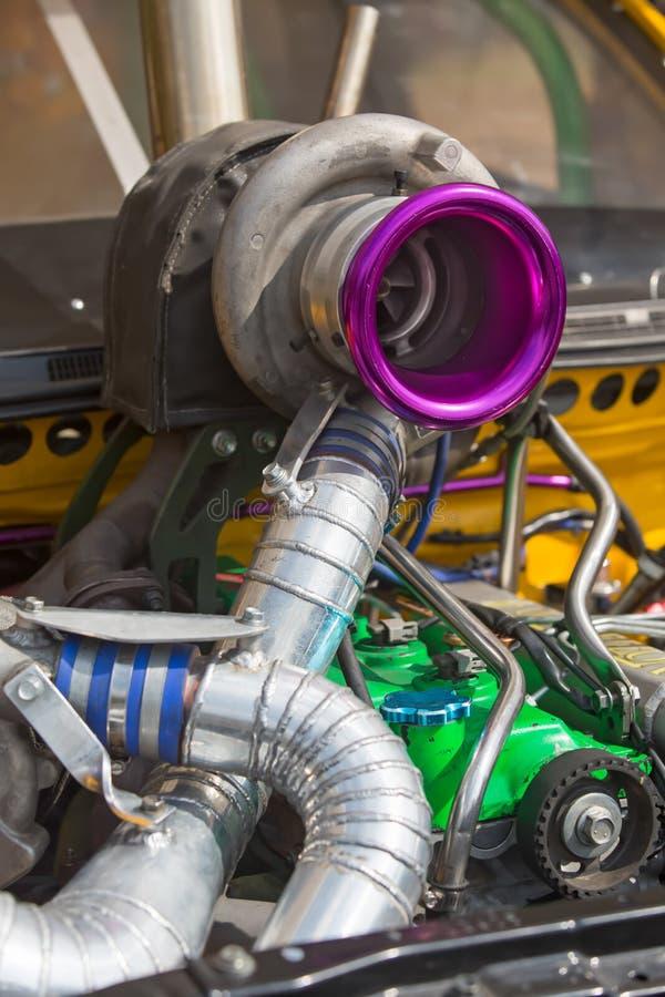 Motor diesel del coche de competición foto de archivo libre de regalías