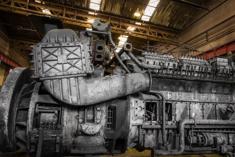 Motor diesel do trem imagens de stock royalty free