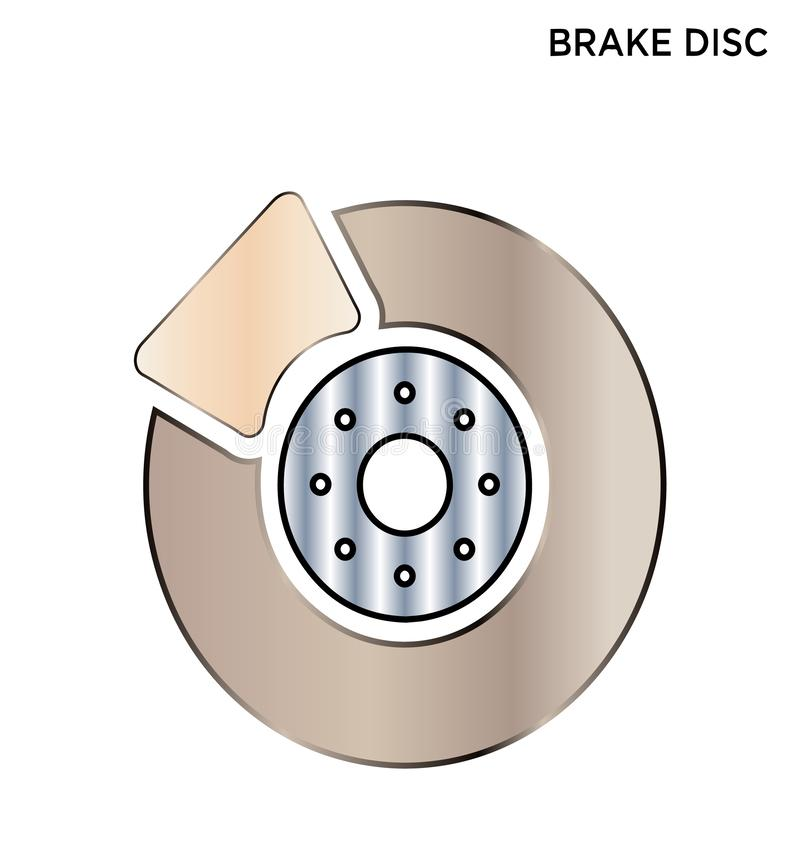 Motor disc brake icon editable symbol design. Motor disc brake icon transportation concept symbol design Expand to any size, Change to any color royalty free illustration