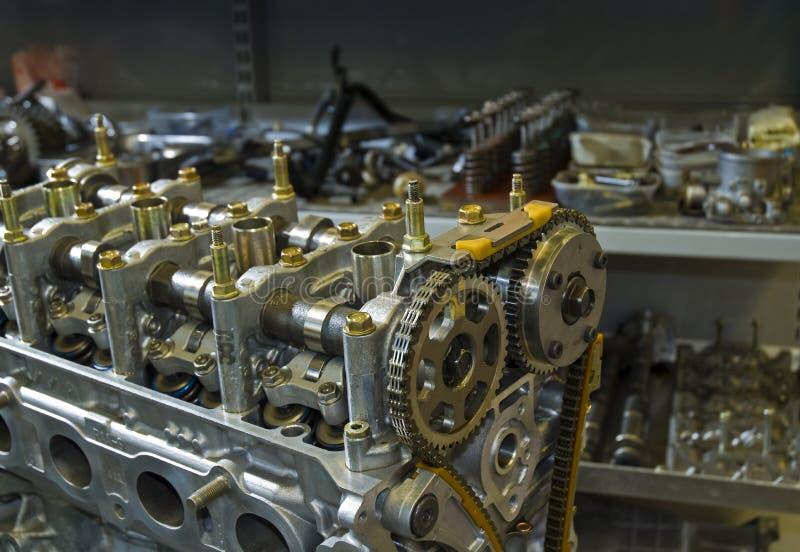Motor do automóvel do elevado desempenho foto de stock