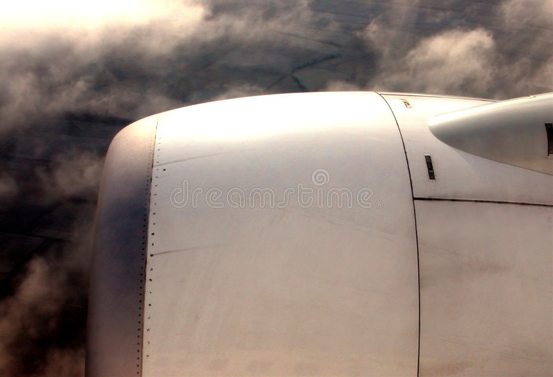 Motor do avião foto de stock royalty free