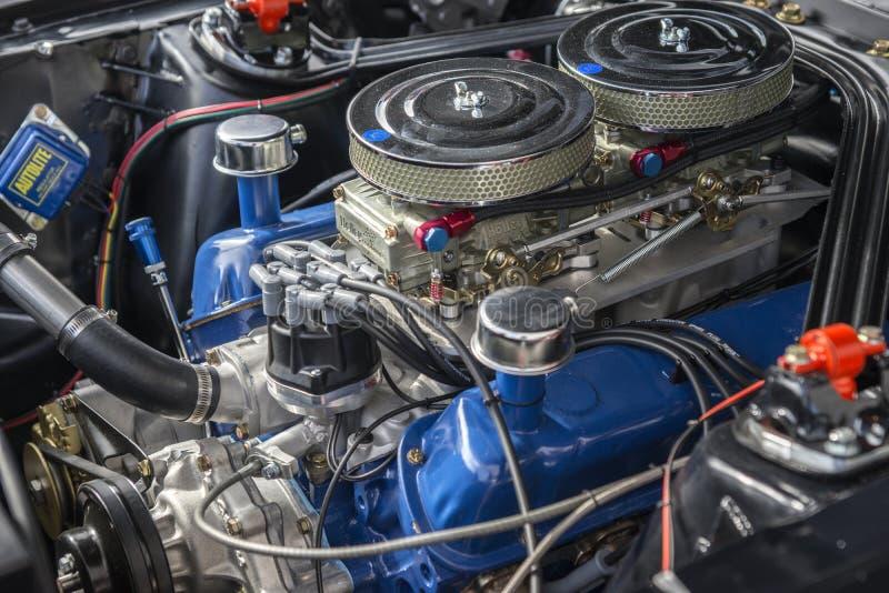 Motor do carro de corridas imagens de stock