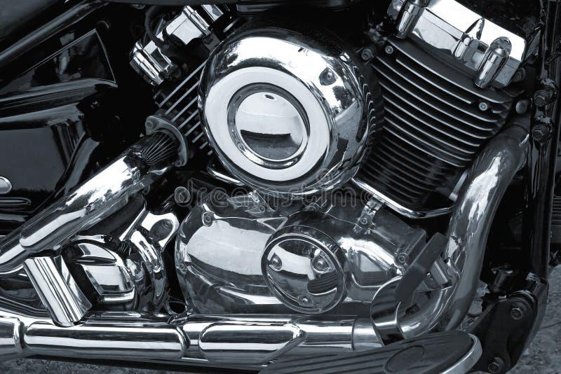 Motor do cromo da motocicleta imagem de stock royalty free