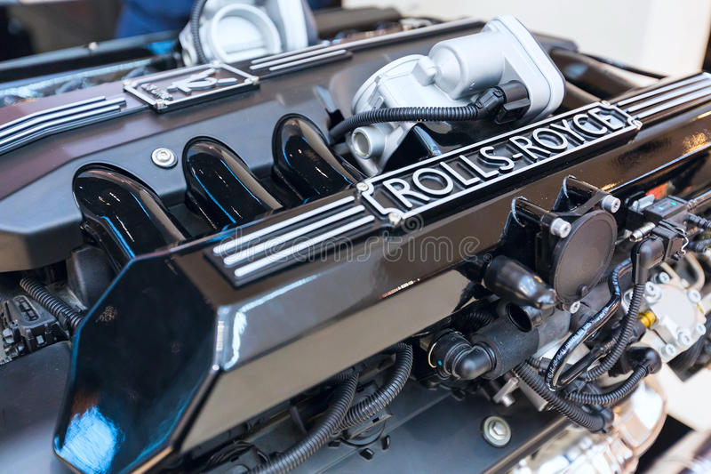 Motor do fim de Rolls royce acima fotos de stock royalty free