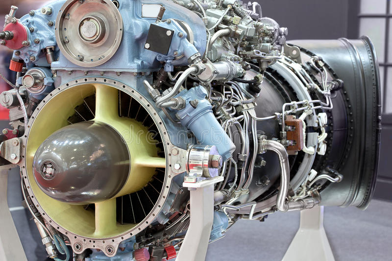 Motor do helicóptero com turbina fotografia de stock royalty free