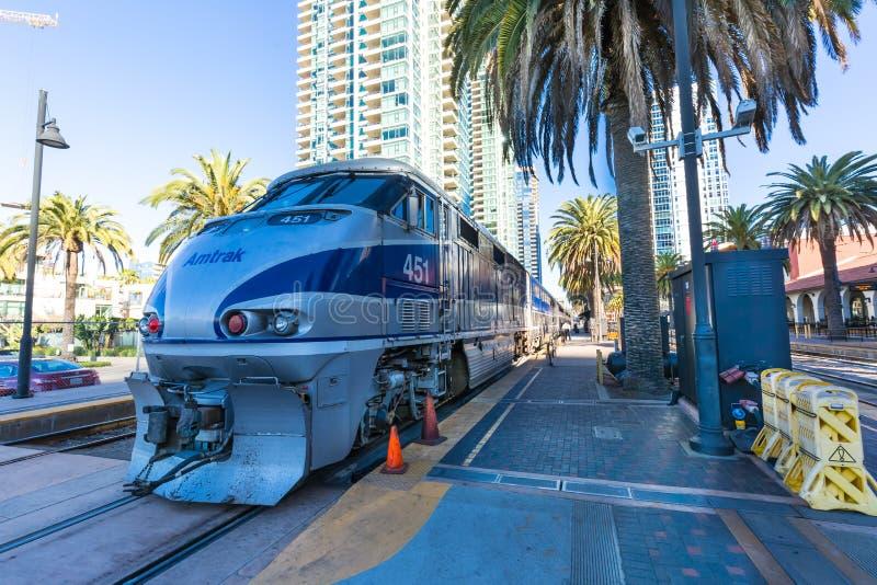 Motor do trem de Amtrak imagens de stock royalty free
