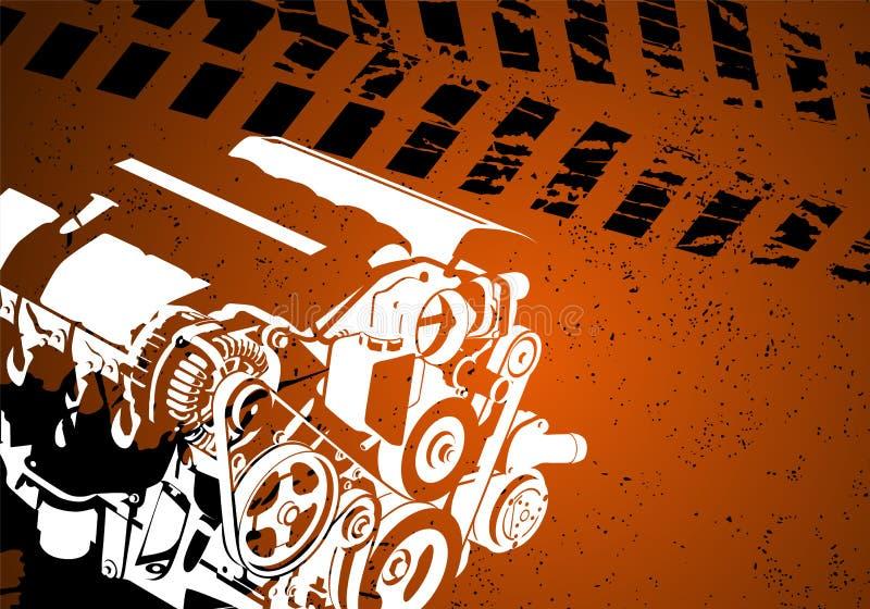 Motor do vetor ilustração do vetor