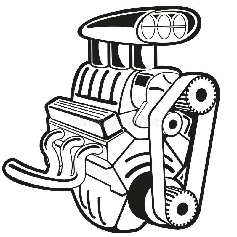 Motor do vetor ilustração stock