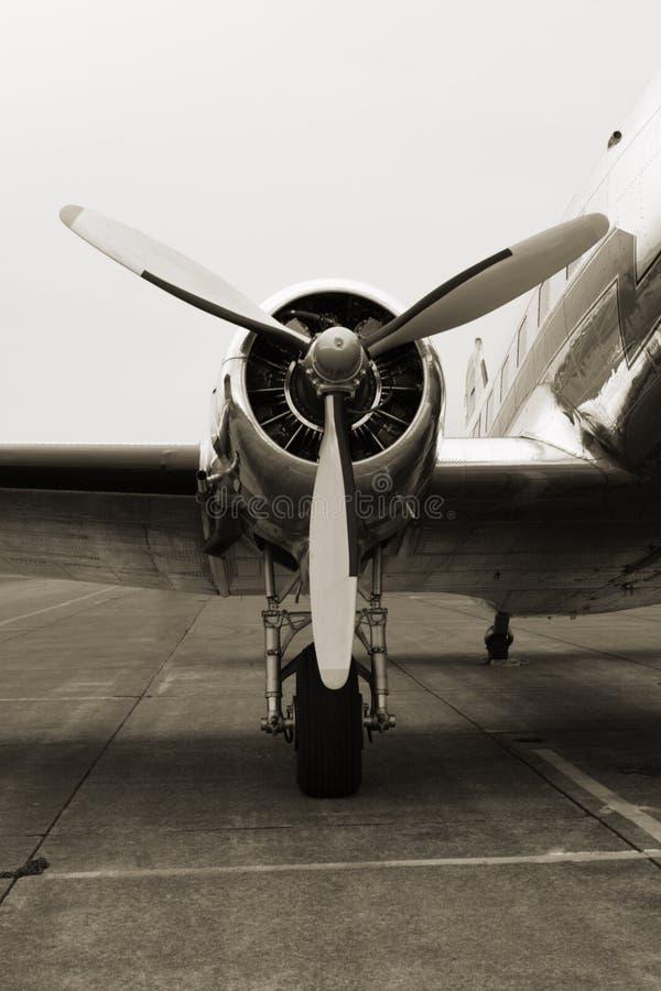 Motor do vintage DC3 imagem de stock