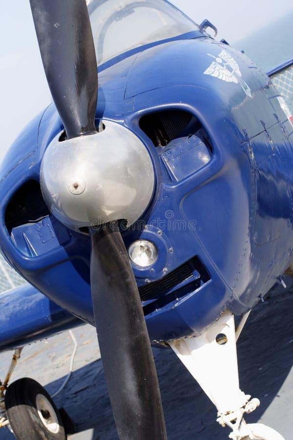 Motor e hélice do plano foto de stock royalty free
