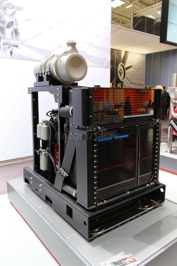 Motor en una construcción justa en Alemania fotografía de archivo