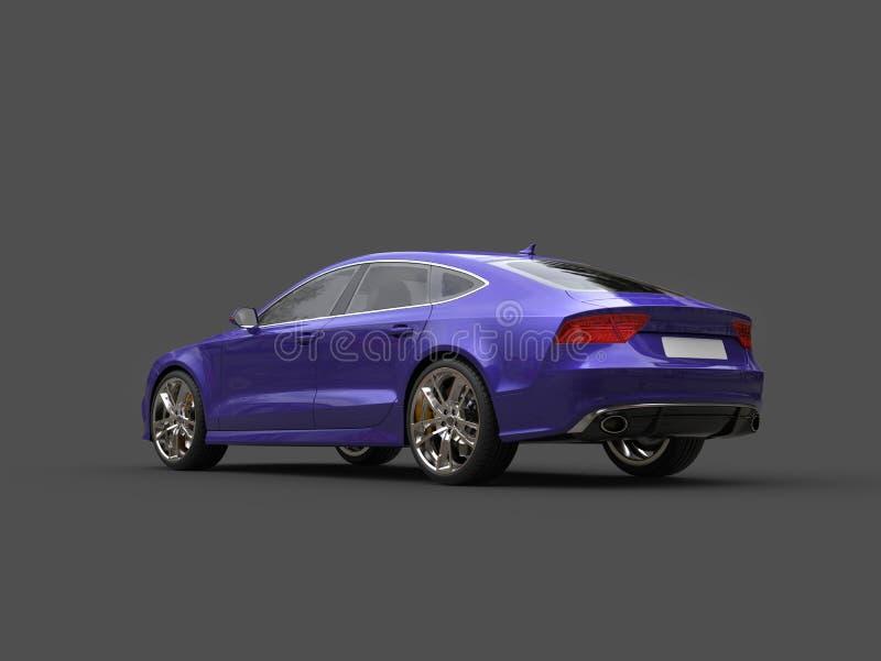 Motor- Endstückansicht des verrückten purpurroten modernen Geschäfts vektor abbildung