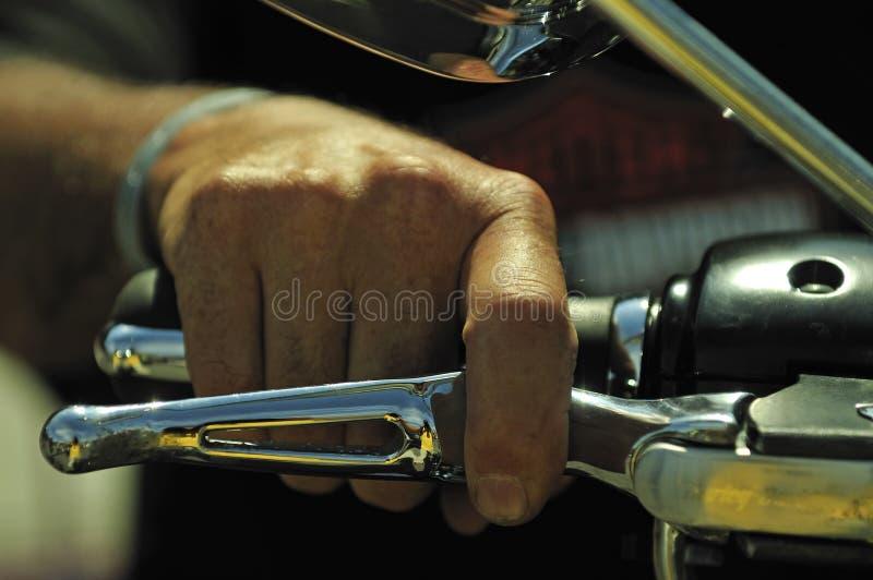 motor för accelerationscykelhand fotografering för bildbyråer