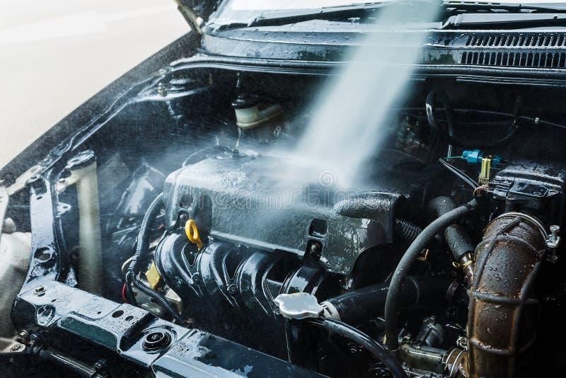 Motor för vattenlokalvårdbil royaltyfri bild