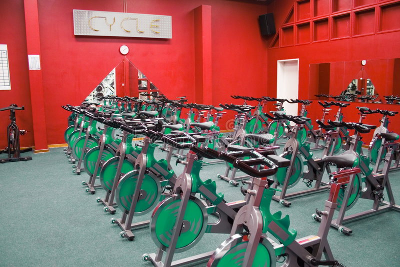 motor fitness kręcenia fizycznej zdjęcie royalty free