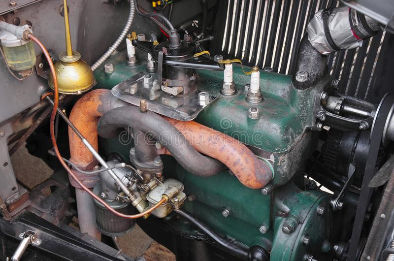 Motor Ford Phaeton 1928 fotografia de stock royalty free