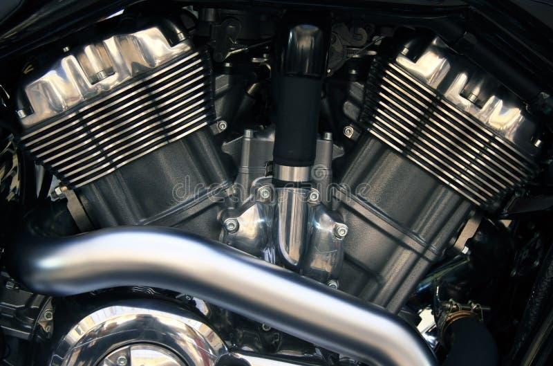 Motor gêmeo da motocicleta V imagens de stock royalty free