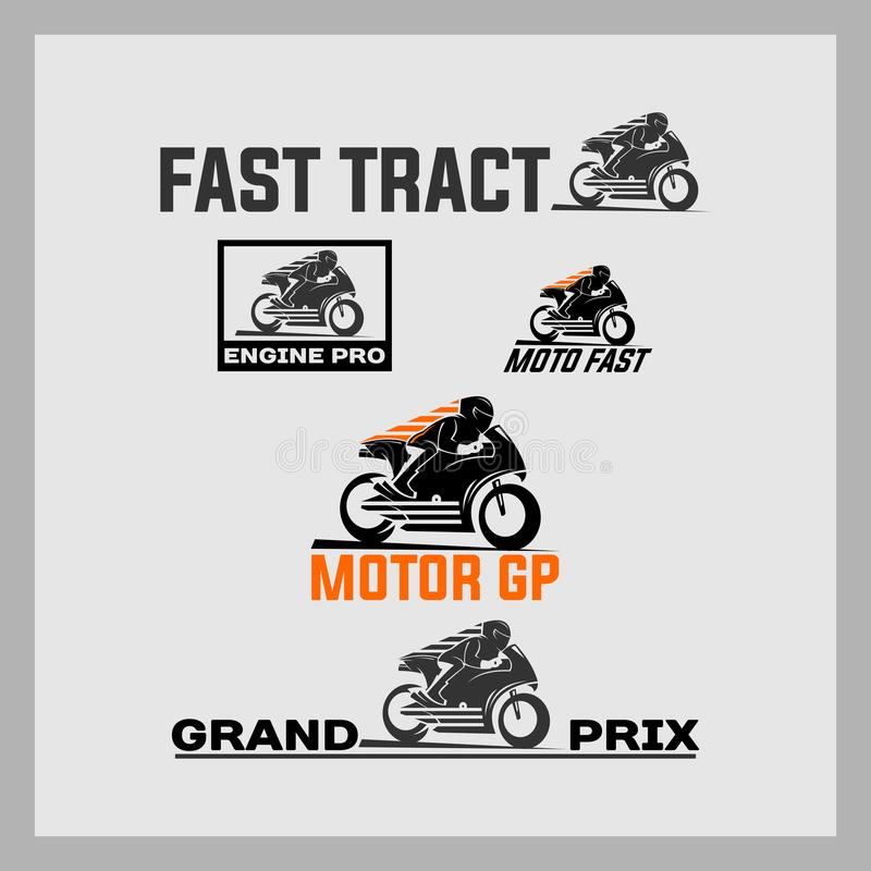 Motor gp, fast track on the road stock images