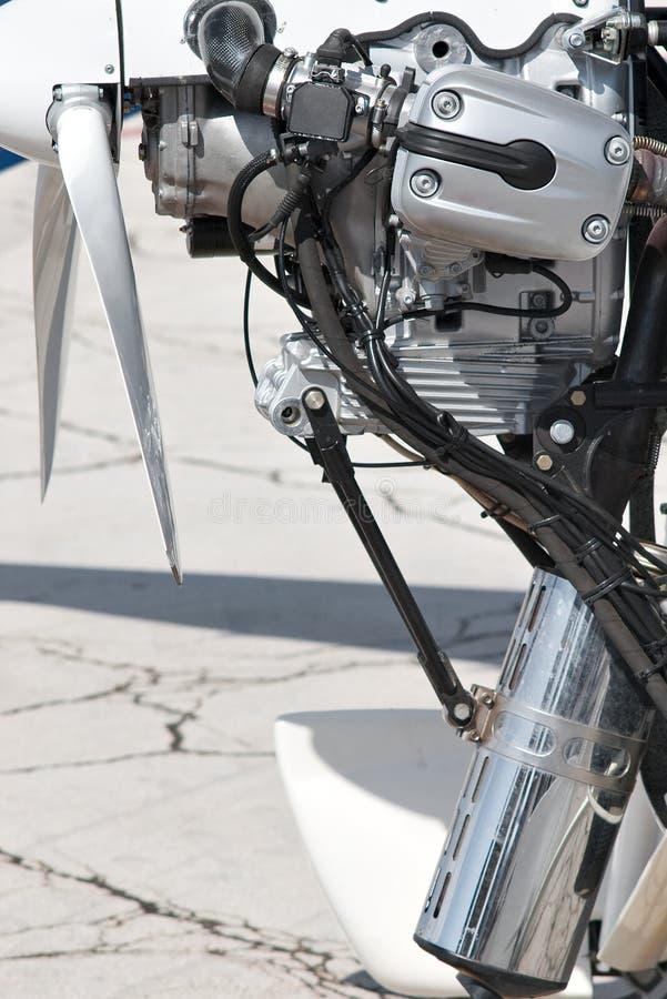 motor Hélice-conduzido do avião imagem de stock