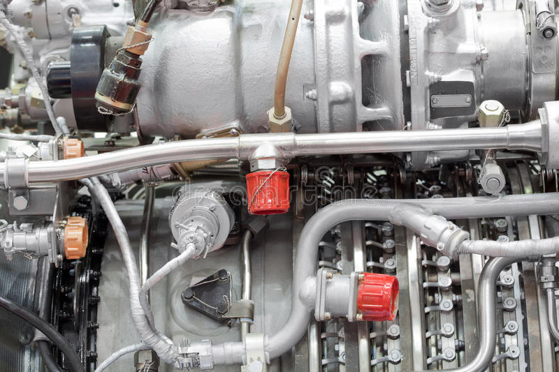 Download Motor Of Helicopter On Exhibition Stock Photo - Image: 27107888