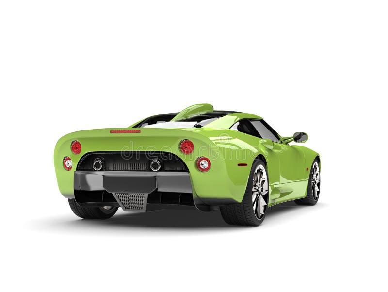 Motor- hintere Ansicht des hellgrünen Supersports vektor abbildung