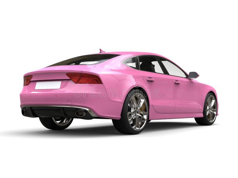 Motor- hintere Ansicht des rosa modernen Geschäfts der Süßigkeit vektor abbildung