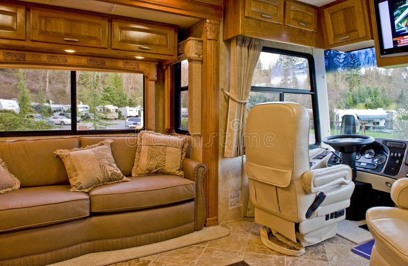 Download Motor Home Interior Stock Photo. Image Of Road, Seating   4673826