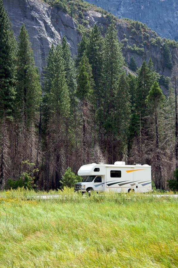 Motor home RV in Yosemite National Park stock photos
