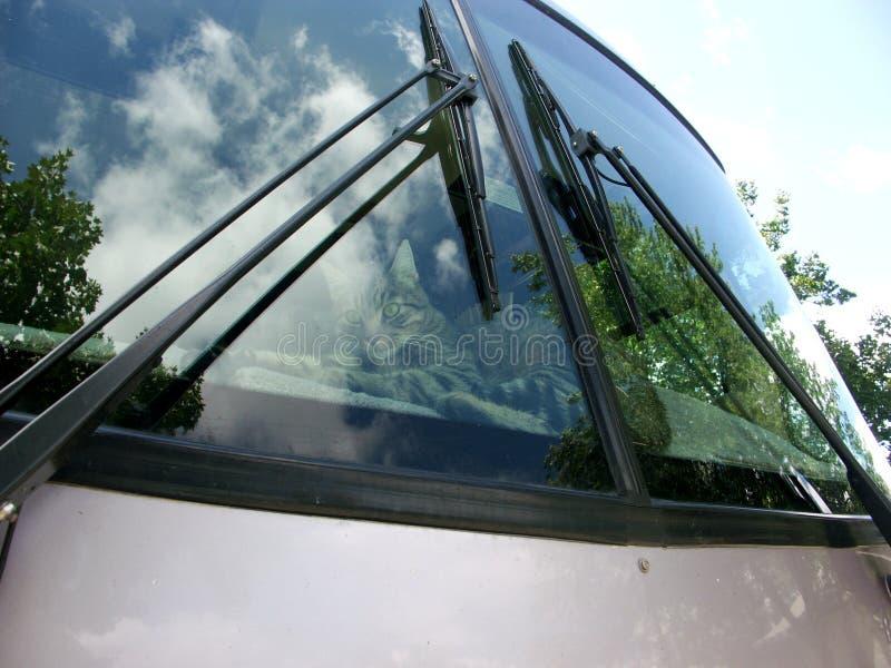Motor home windshield stock image