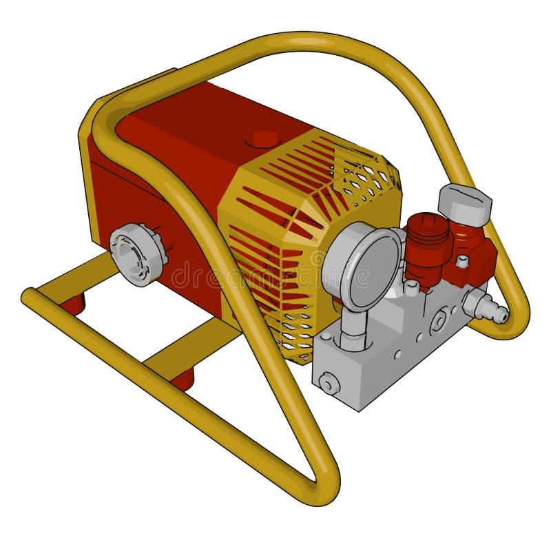 Motor industrial automotor vectorial o ilustración de color stock de ilustración