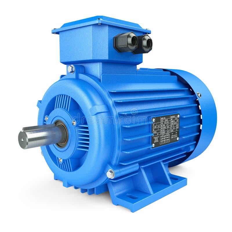 Motor industrial bonde azul ilustração stock