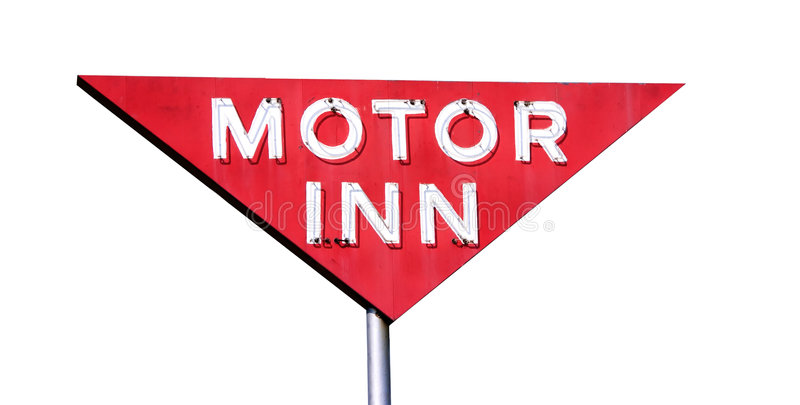 Motor Inn Isolated royalty free stock image