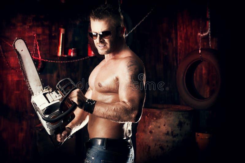 Motor man stock image