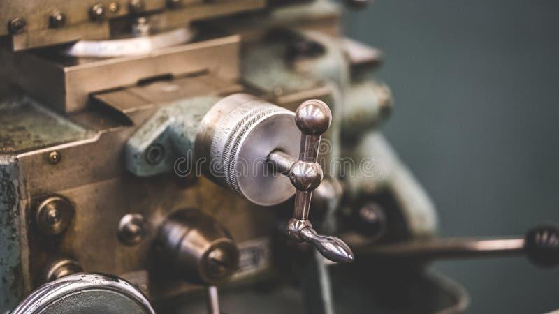 Motor mecánico de la rotación manual industrial fotos de archivo