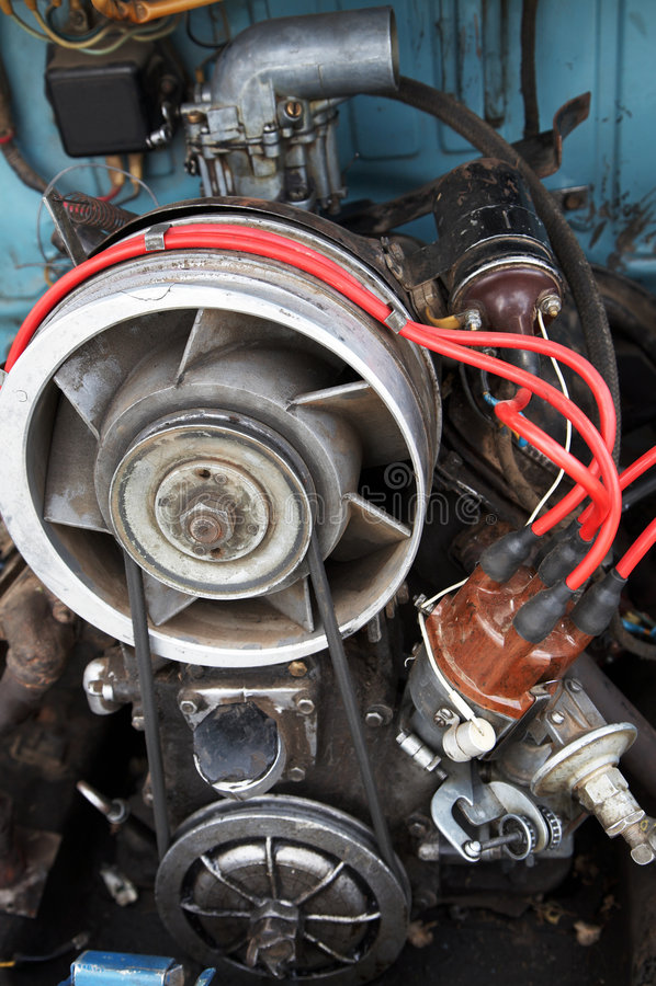 Motor mit der Luftkühlung stockbild