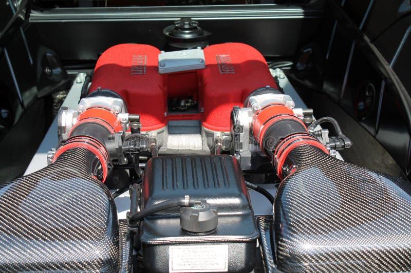 Motor moderno de Ferrari imágenes de archivo libres de regalías