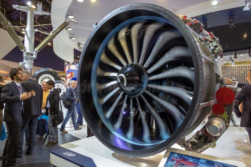Motor moderno do avião de passageiros fotos de stock