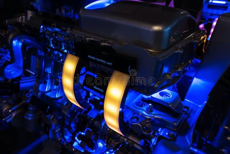 Motor moderno do híbrido do carro fotos de stock royalty free