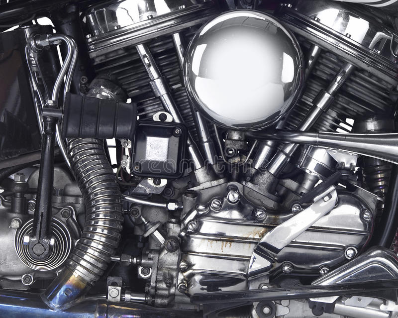 Motor of a motorbike stock photos